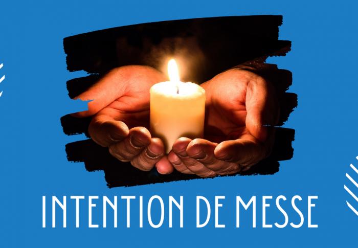 Déposer une intention de messe