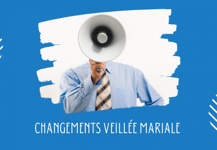 Attention ! Changement veillée mariale