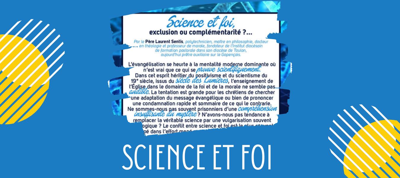 """Conférences """"Science et foi"""""""